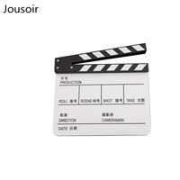 White acrylic Chinese and English film recording board film photography props clapboard CD50