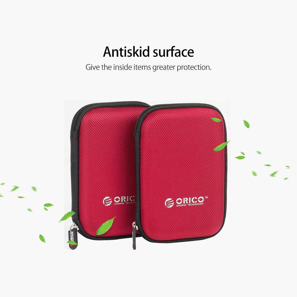 ORICO 2.5 นิ้วHDDกล่องกระเป๋าแบบพกพาสำหรับฮาร์ดดิสก์แบบพกพาภายนอกHDDกล่องเก็บกล่องป้องกันสีดำ/สีแดง/สีฟ้า