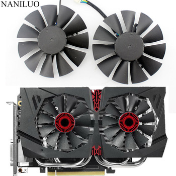 T128010BH 75mm DC 12V 0.25A Cooler fan For ASUS STRIX GTX1060 GTX960 GTX950 Fan GTX 950 960 1060 Graphic Card with free shipping graphic card for asus gtx 660 m g75 g75v g75vw gtx660m n13e gs1 lp a1 video vga card free shipping