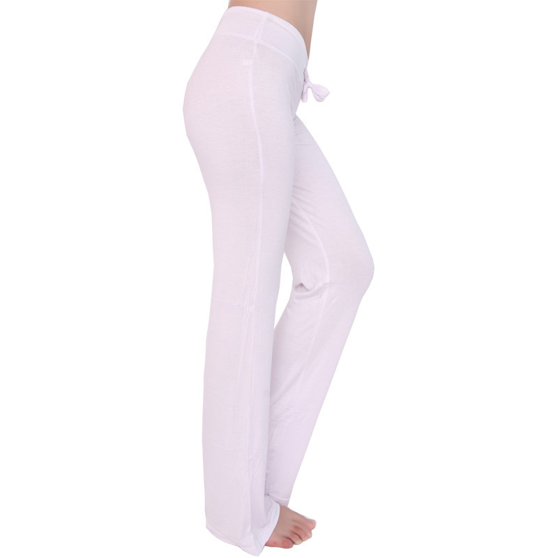 Sport Wide Leg Pants Modal High Waist Stretch Women Flare Pants Dance Club Loose Long Trousers (5)