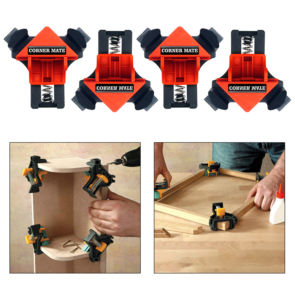 4pcs 90 Degrees Right Angle Clamp Clip Quick Fixing Picture Frame Corner Clamps Woodworking Hand Tool in Clamps from Home Improvement