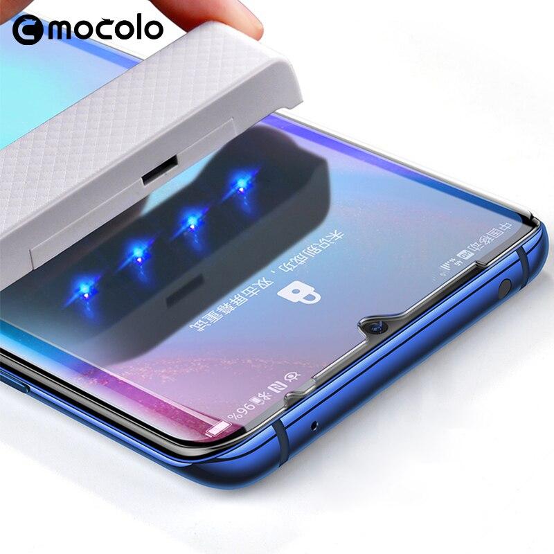 Für Huawei P30 Pro Screen Protector Mocolo Volle Flüssigkeit Geklebt 5D Gebogene UV Gehärtetem Glas für Huawei Mate 20 Pro screen Protector