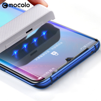 for Huawei P30 Pro Screen Protector Mocolo P40 Pro Liquid Glued Curved UV Tempered Glass for Huawei Mate 30 Pro Screen Protector