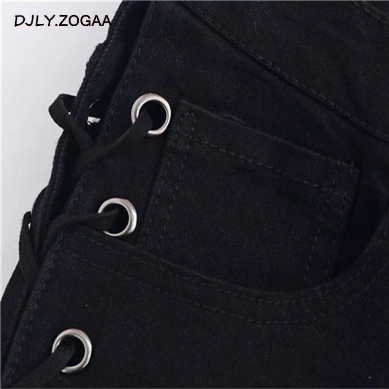 ZOGAA New Side Straps Jeans Women 39 s Feet Pants Slim Trousers Female High Waist Jeans in Jeans from Women 39 s Clothing