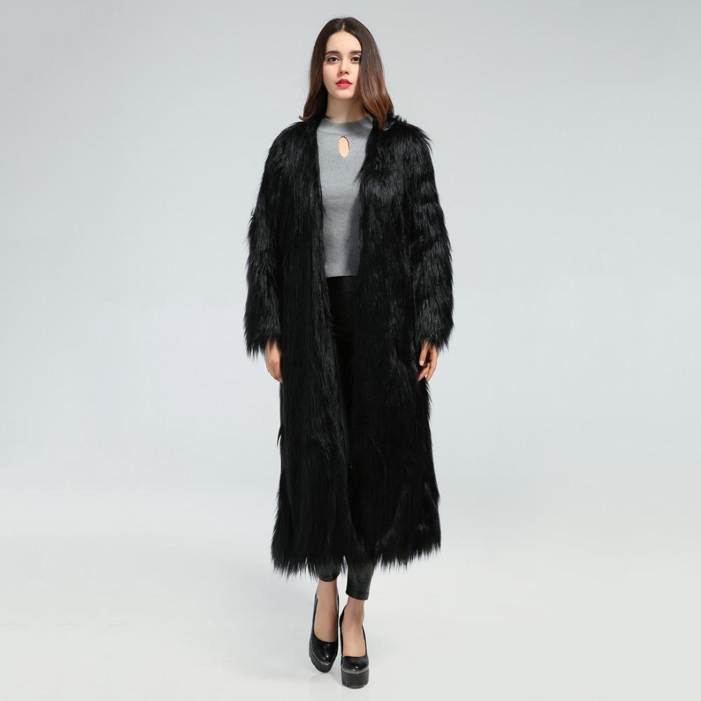 Online Buy Wholesale black long fur coat from China black long fur ...
