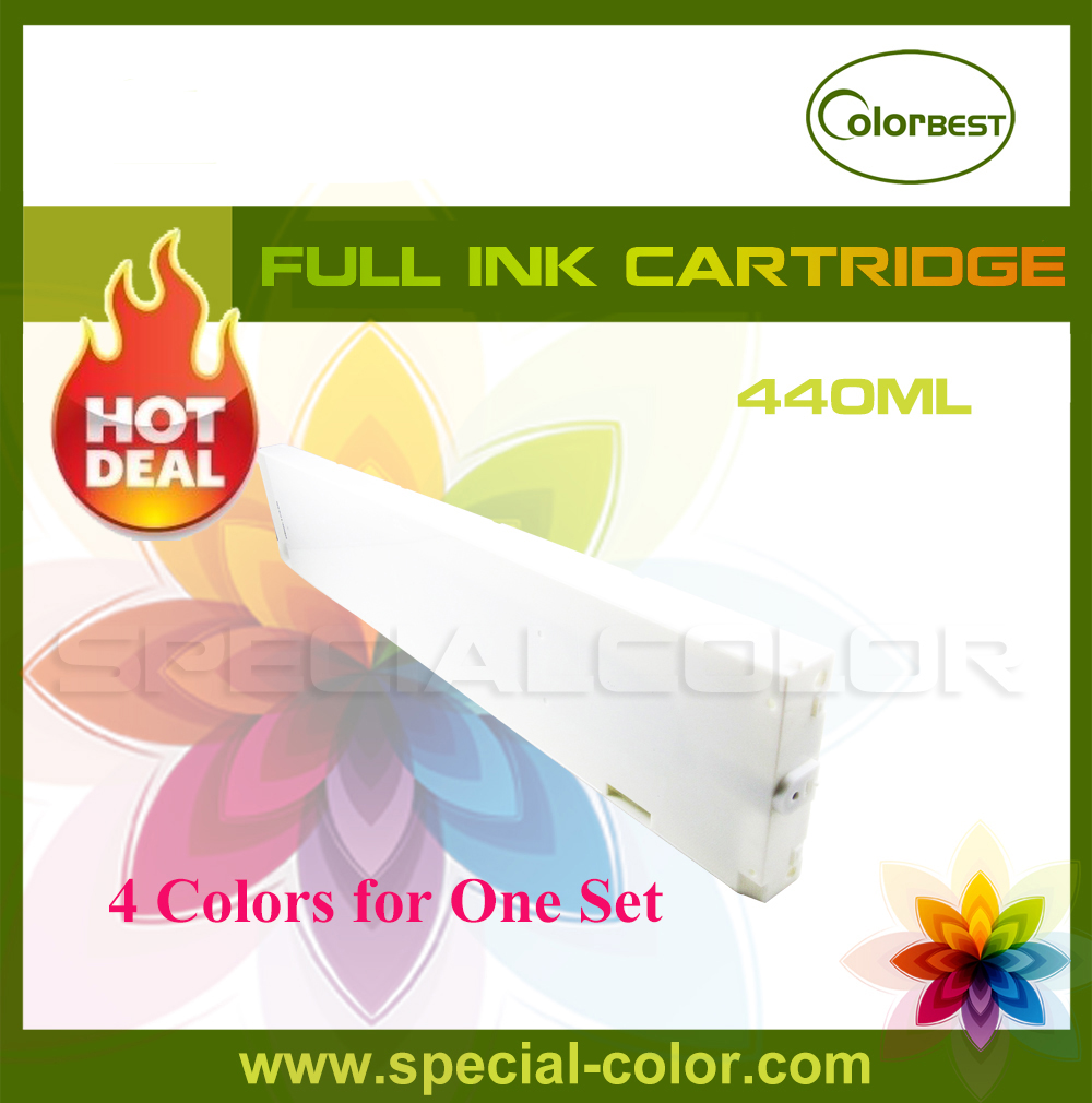 4pcs/Set CMYK 440ml Color Printer Ink cartridge without Chip for Mimaki JV33/JV5/JV3 mimaki ink cartridge bs3 auto reset permanent chip for mimaki jv33 ts3 cjv30 inkjet printer cmyk 4 colors