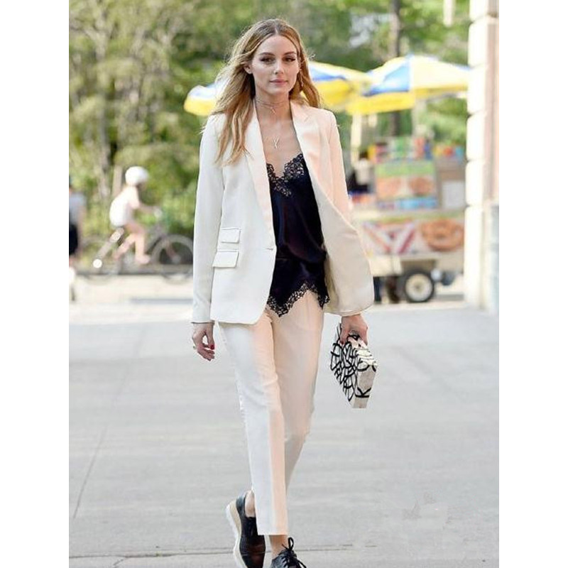 Autumn Spring Double Breast Blazer New Korean Fashion Two-piece Clothing Set Lotus Suit Blazer Top and Pants Outfit Jacket Sets