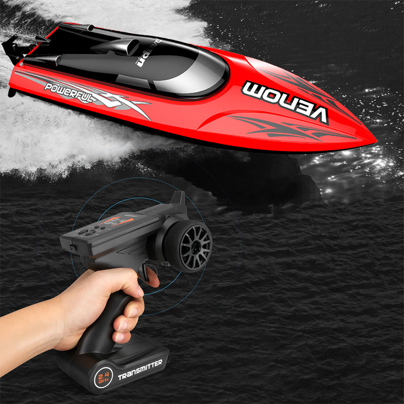 Image 5 - 30KM/H High Speed Mini RC Boat 2.4GHZ 4CH Radio Remote Control Speedboat For Fishing Ship Bait Boat Electric RC Toys For Gifts-in RC Boats from Toys & Hobbies