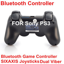 Wireless Bluetooth Game Controller SIXAXIS Joysticks Controller For Sony PS3 Controller for PS3 Playstation3 Black