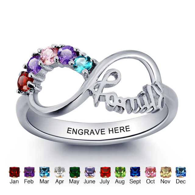 on three jewelery rings images mother birthstone jewelry and best mothers stone pinterest