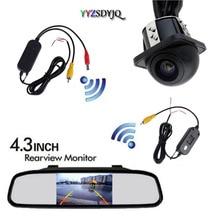 цена на YYZSDYJQ Rear View Kit Wireless Reverse Car Backup HD Camera With 4.3