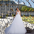 A Line Elegant Wedding Dress V Neck Cap Sleeve Appliques Tulle Vestidos De Noiva Simples E Barato Trouwjurk 2017 Wedding Gowns