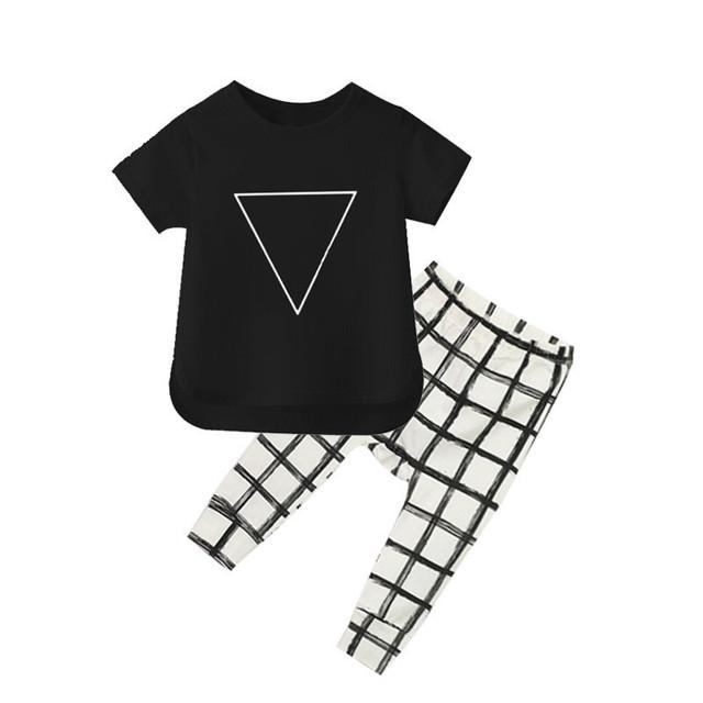 2016 Novo Verão Meninos Roupas de Bebê Crianças Roupas Da Moda para Meninos Listradas das Crianças Roupas de Bebê Menino camisa Curto do T + meninos Calça