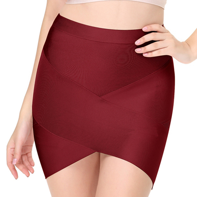 Seamyla 2019 New Fashion Women Skirts Sexy Celebrity Party Bodycon Bandage Pencil Skirt Night Out Club Mini Skirts Wholesale 2