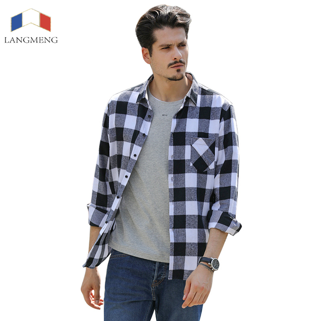 Flannel shirts for men south park t shirts for Mens slim fit flannel shirt