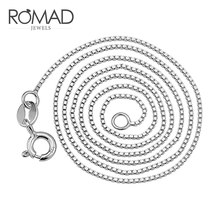 цены на ROMAD Simple Choker Necklace Women Necklaces Silver Color Necklace Chain Choker On Neck Jewelry R4  в интернет-магазинах