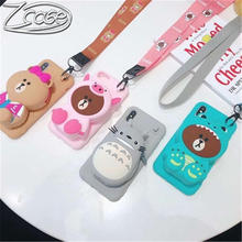 Korea Cartoon 3D Bear Wallet Soft Silicone Case For iPhone X XR XS Max 6 7 8 Plus Samsung Galaxy S8 S9 S10E Plus Note 8 9 10Pro multifunction woven pattern zipper wallet case for samsung note 10 8 9 s8 s9 s10 plus s10e for iphone xs max xr x 6 6s 7 8 plus