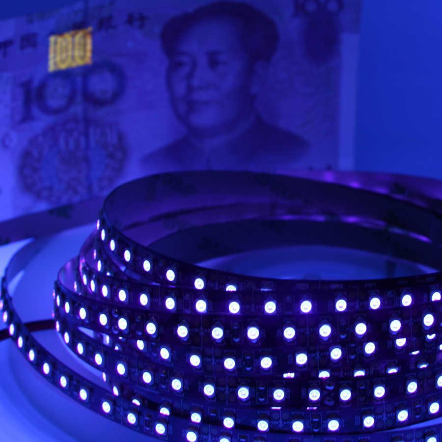 1 m 5 m taśmy led uv balck światła 3528 5050 SMD 395-405nm lampki nocne ultrafioletowe doprowadziły wodoodporny boże narodzenie string taśmy liny lampy