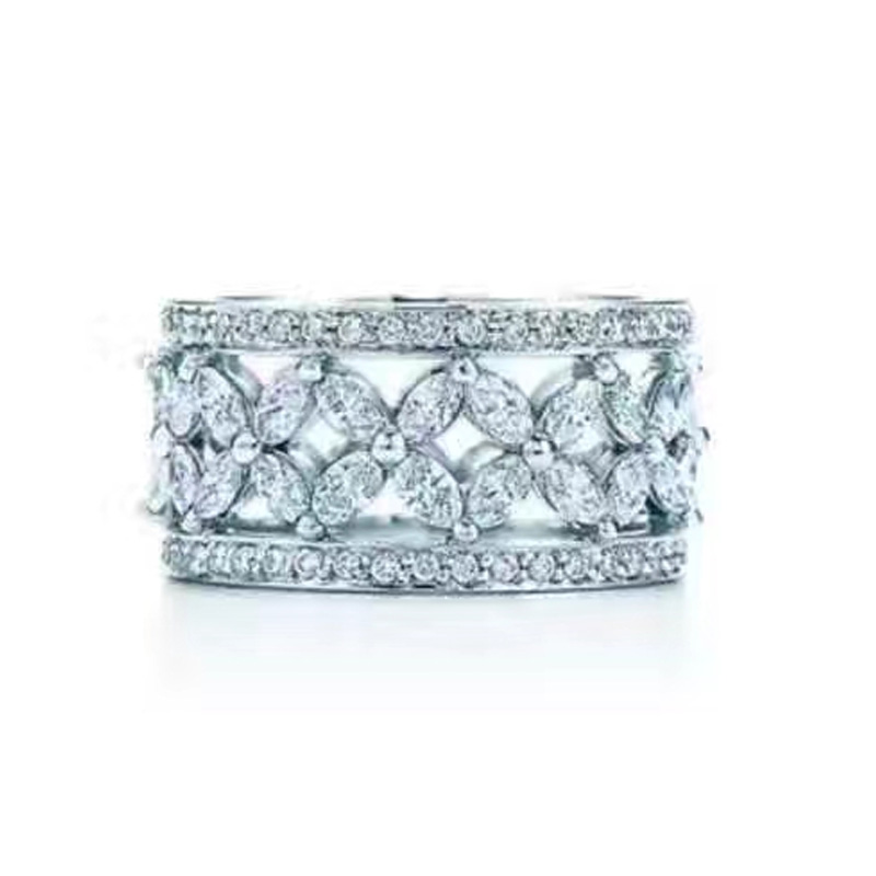 TR528 ring for women 925 silver design love Wedding Engagement Jewelry