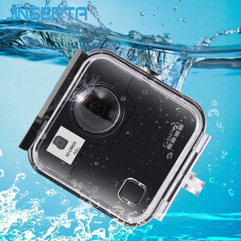 JINSERTA 45M Underwater Waterproof Case for GoPro Fusion Camera Diving Housing Mount for GoPro Fusion Accessories 45m waterproof case mount protective housing cover for gopro hero 5 black edition