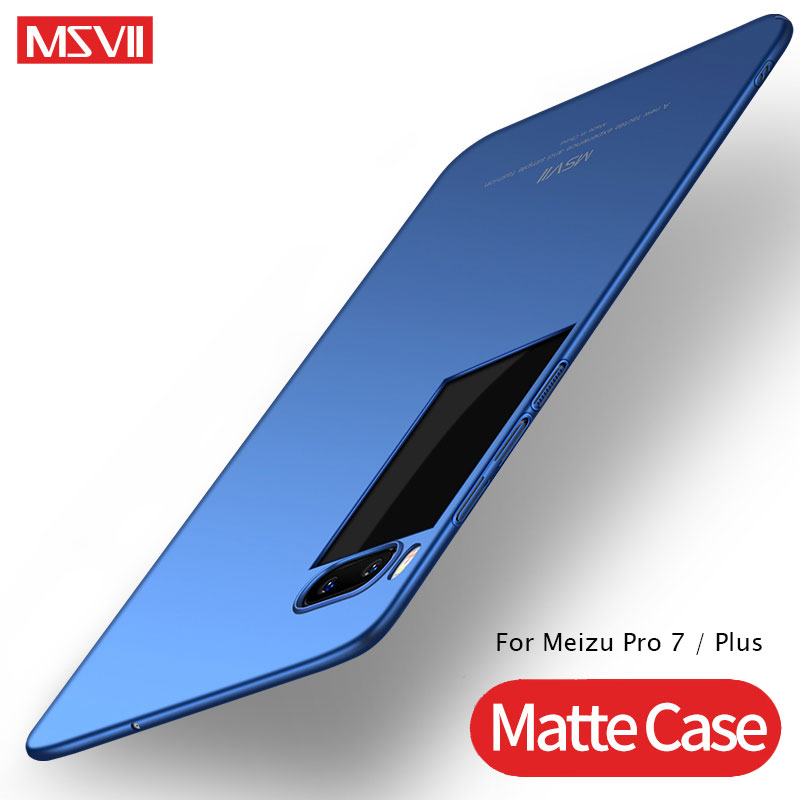 Meizu Pro 7 Case Cover MSVII Silm Matte Back Cover For Meizu Pro 7 Plus Case PC Hard Cover For Meizu 7 Pro Pro7 Plus Phone Cases