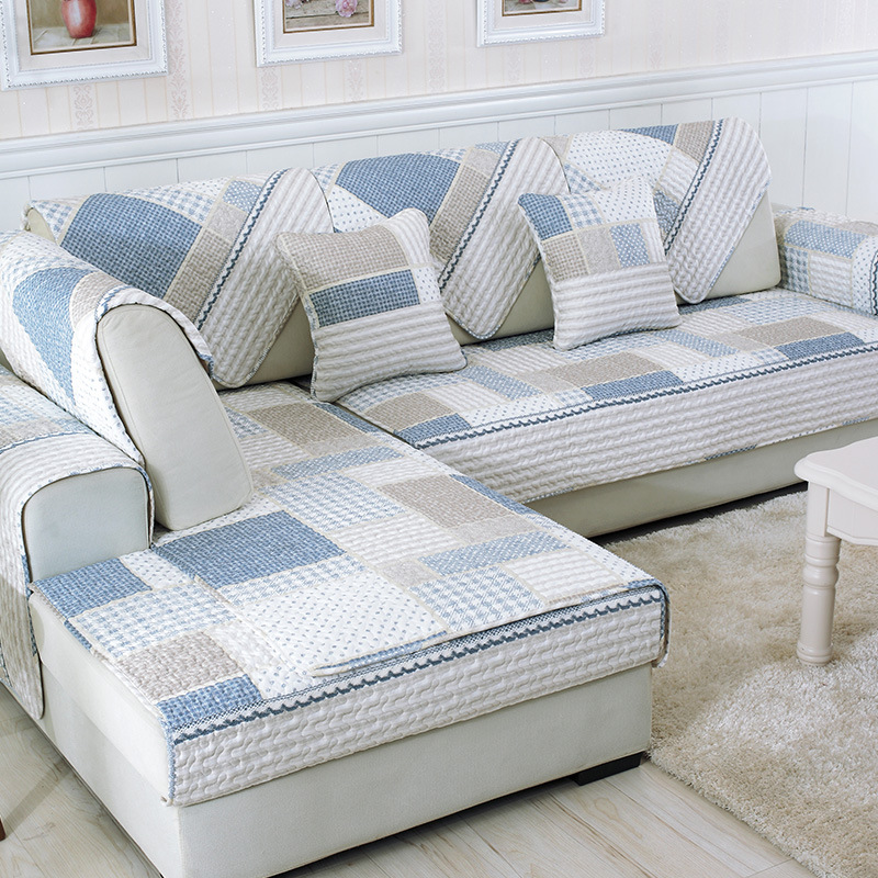 Sofa Covers for Living Room Plaid Sofa Towel Couch Cover ...