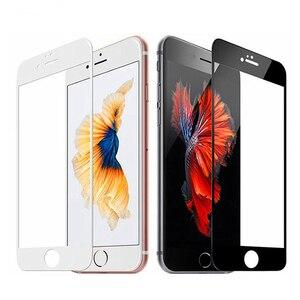 3D التغطية الزجاج المقسى ل iphone 7 6 6s 8 زائد الزجاج iphone 7 8 6 X واقي للشاشة زجاج واقي على iphone 7 plus