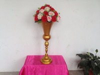 New arrival 62cm 24.4inch Express free shipping 10pcs/lot gold wedding table centerpiece vase