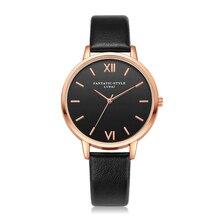 Klasyczny zegarek damski złoty z czarną tarczą