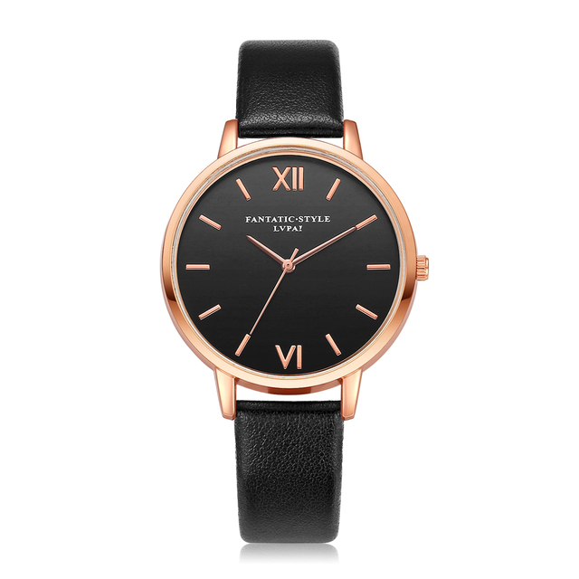 Women Watches Bracelet Watch Ladies Retro Design Leather Band Analog Alloy Quart
