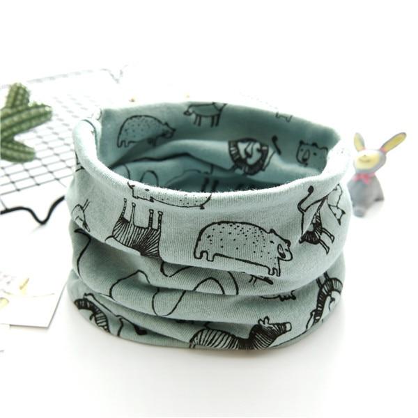 new cotton flower dog bunny flag cat cartoon baby o ring scarf boys girls fashion neck wear collars fashion neckerchief scarves