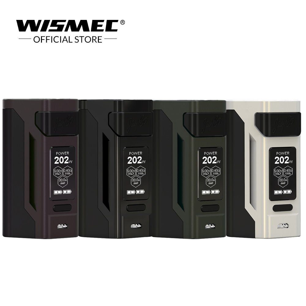 Original WISMEC Reuleaux RX2 21700 TC MOD 230W Output with VW/TC(Ni, Ti, SS)/TCR mode uses 21700 / 18650 Battery Vape mod box стоимость