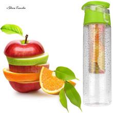 ISHOWTIENDA New 1pc 800ML Fruit Infusion Infusing Water Bottle Sports Health Maker Bike Travel Watter Bottle School Sport Bottle