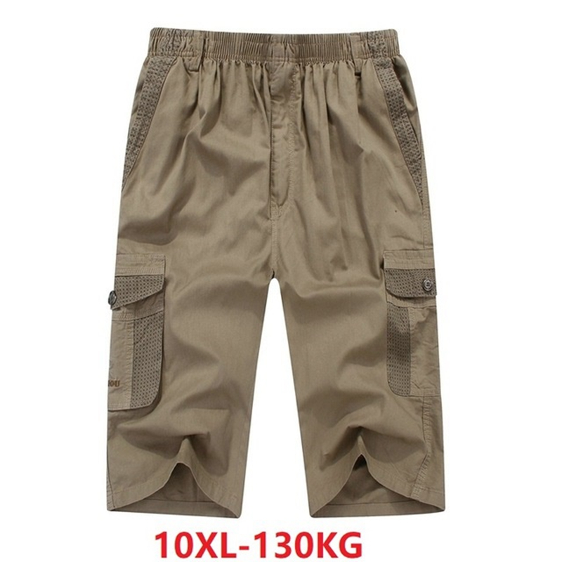 Cargo-Shorts Fashion 8XL Pockets Black Big-Size Cotton Summer Armygreen 6XL Out 7XL 48