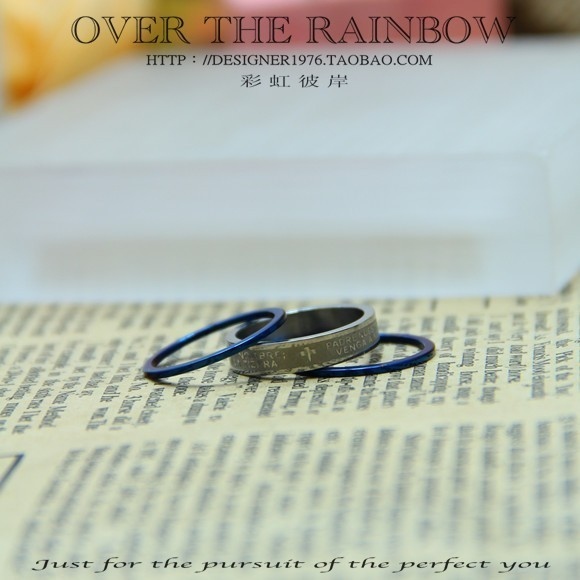 Titanium ring fashion trend of the paragraph
