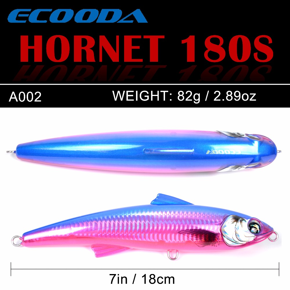 Ecooda Hornet 180mm 82g Saltwater Topwater Trolling Lure 2