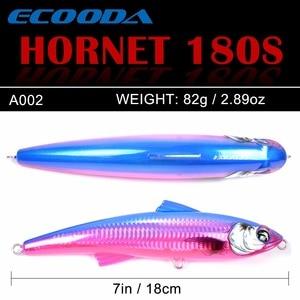Image 2 - Ecooda Hornet 180mm 82g Fishing Popper Saltwater lure Topwater Trolling big Pencil Lure Hard bait Floating For Kingfish/Tuna