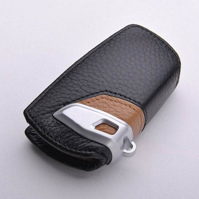 Leather Car Key Case Cover Shell For BMW F10 F20 F30 NEW 1 2 3 4 5 6 7 Series X3 X4 320I 116I 118I 328I 530I Wallet keychain