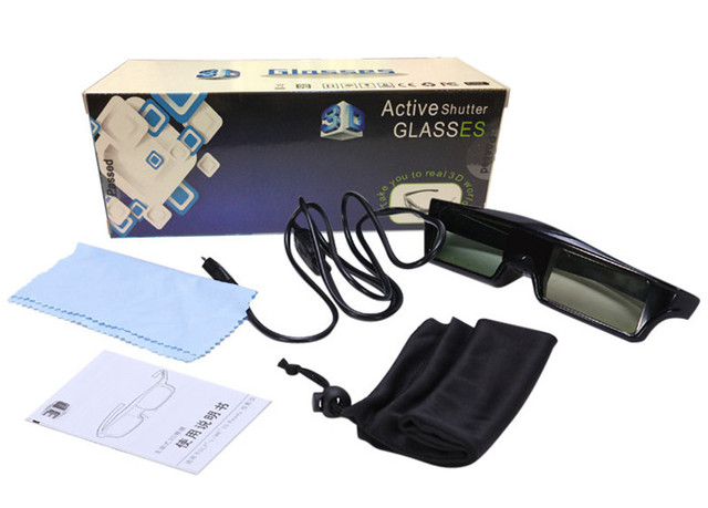 d56a91dbf772c USB rechargeable Active Shutter 3D Glasses Eyewear for Epson 3D Projectors  5200 8200 9510