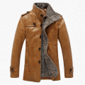 Pu Leather Jacket Men Fleece Winter Jackets And Coats Thicken Windbreak Waterproof Warm Trench Coat Motorcycle Jaqueta De Couro