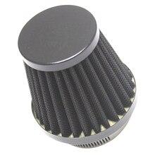 Filtro de ar para motocicleta, cone para limpeza de ar 52/53/54mm, carburador, diâmetro interno para motocicleta atv, 1 peça dirt bike etc