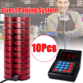 999 Channel Restaurant Pager Wireless Paging Queuing Calling System Transmitter with 10 Coaster Pagers Restaurant Equipments