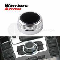 4F0919069 4F0919069A For Audi A6 Allroad Quattro C6 A8 Q7 2007 2008 2009 MMI Multi Media Rotary Knob Main Menu Switch Cover Cap