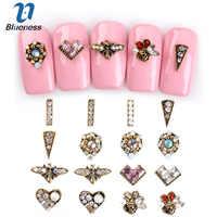 10 pcs/paquet or coloré cristal 3D Nail Art décorations paillettes bijoux charme goujons Nail Art strass pour manucure
