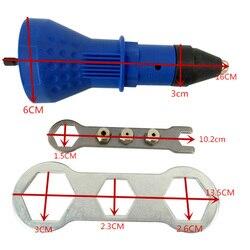 Rebite porca arma rebitagem ferramenta elétrica sem fio adaptador de broca rebitagem inserção porca ferramenta multifunções arma prego rebite automático novo
