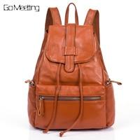 Fashion Genuine Leather Women Backpacks High quality Leather Girls School Shoulder Bag Bagpack mochila Female Travel Backpack