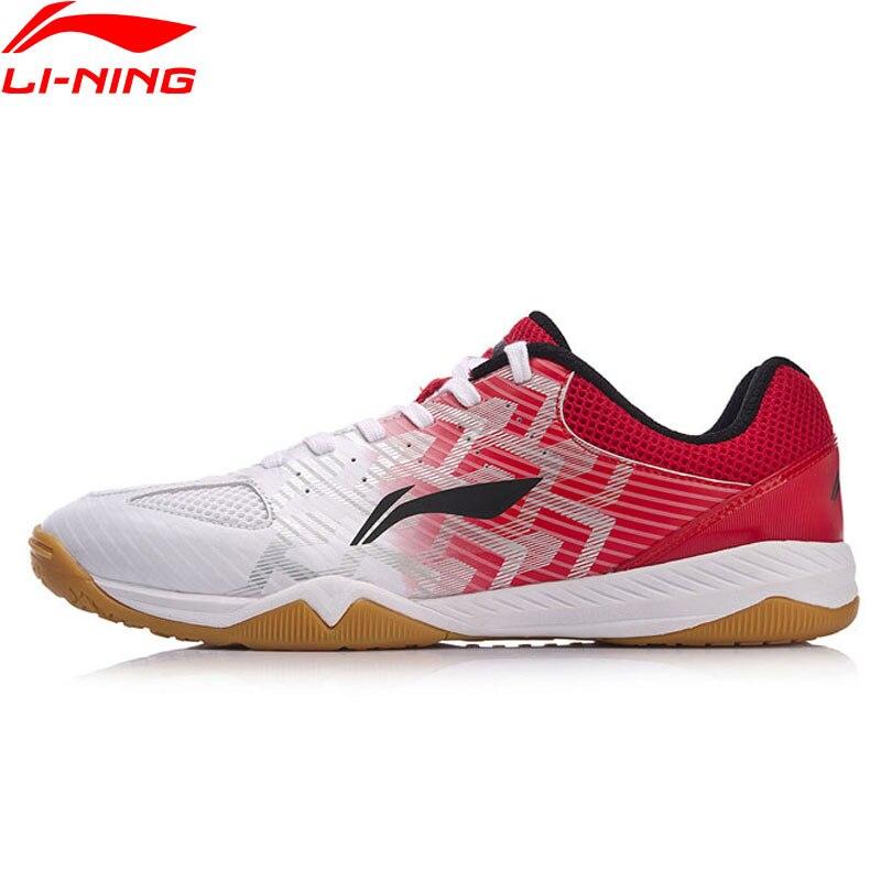 Li-Ning Для мужчин Эволюция Обувь для настольного тенниса национальная спонсором команды Ma длинный удобный внутри Спортивная обувь Кроссовки ...