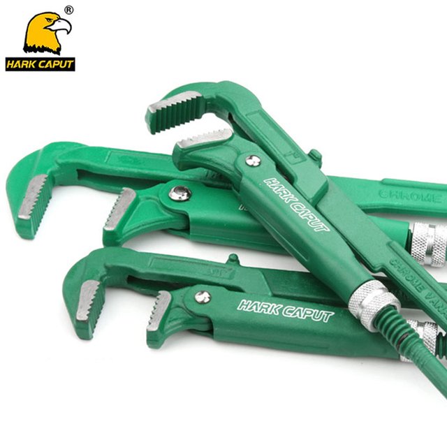 """Chave universal resistente de tubulação, tipo gancho de 3/4 """"/1""""/1.5 """"/2"""" alicate de chave inglesa ajustável, ferramentas manuais de encanamento"""