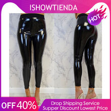 524c4d9ff7a4f8 (Ship from US) Womens Yoga Pants Ladies Strethcy Shiny Sport Fitness  Leggings Trouser Pants Bottoms Running Quick Drying Training Trousers