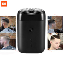 Najnowszy 2019 Xiaomi Mijia golarka elektryczna 2 ruchoma głowica przenośna wodoodporna maszynka do golenia USB akumulator ze stali dla mężczyzn